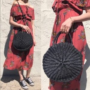 Handbags - Boho bag rattan handmade straw women bag